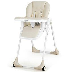Babyjoy Baby Foldable Convertible High Chair Adjustable Heig