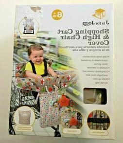 J is for Jeep Grocery Shopping Cart Seat Cover for Baby Wood
